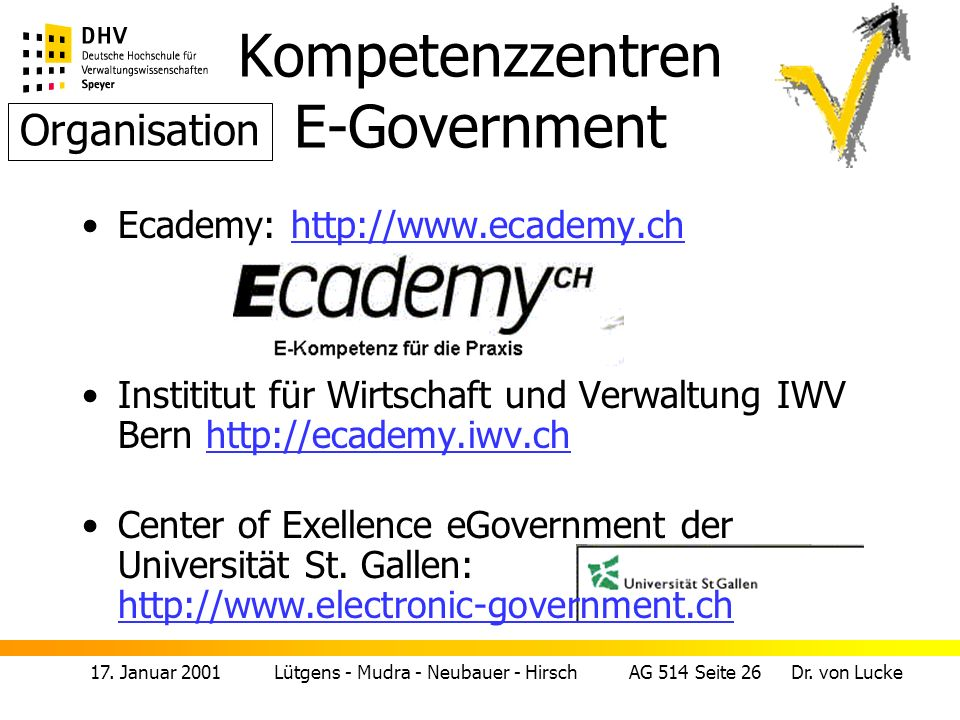 Kompetenzzentren E-Government