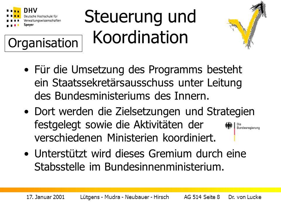 Steuerung und Koordination