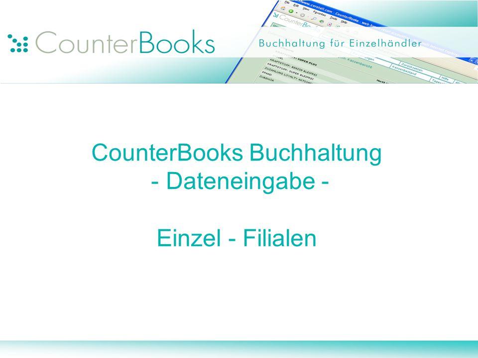 CounterBooks Buchhaltung - Dateneingabe - Einzel - Filialen