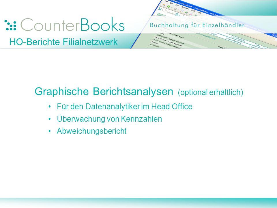 Graphische Berichtsanalysen (optional erhältlich)