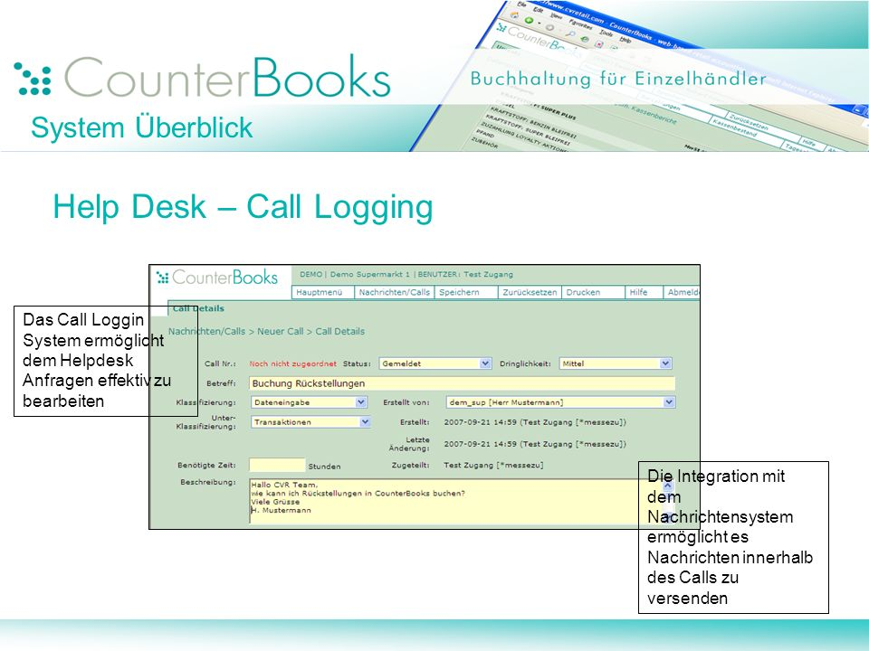 Help Desk – Call Logging