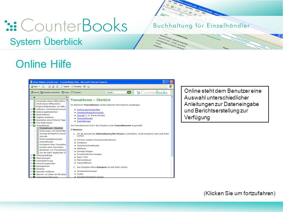 Online Hilfe System Überblick