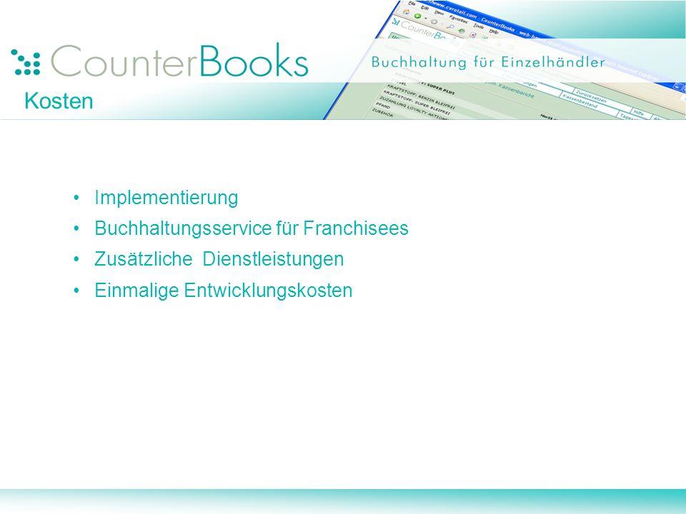 Kosten Implementierung Buchhaltungsservice für Franchisees