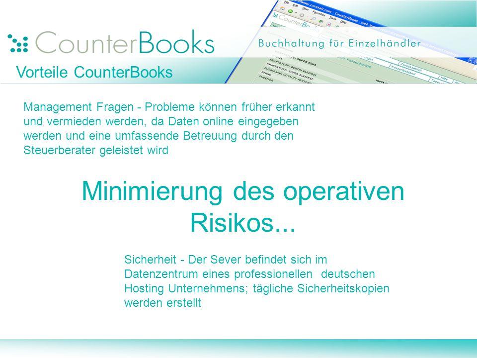 Minimierung des operativen Risikos...