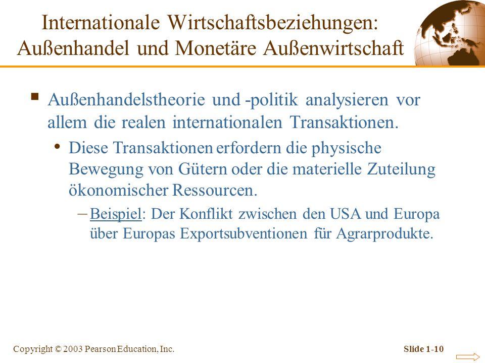 Internationale Wirtschaftsbeziehungen: Außenhandel und Monetäre Außenwirtschaft