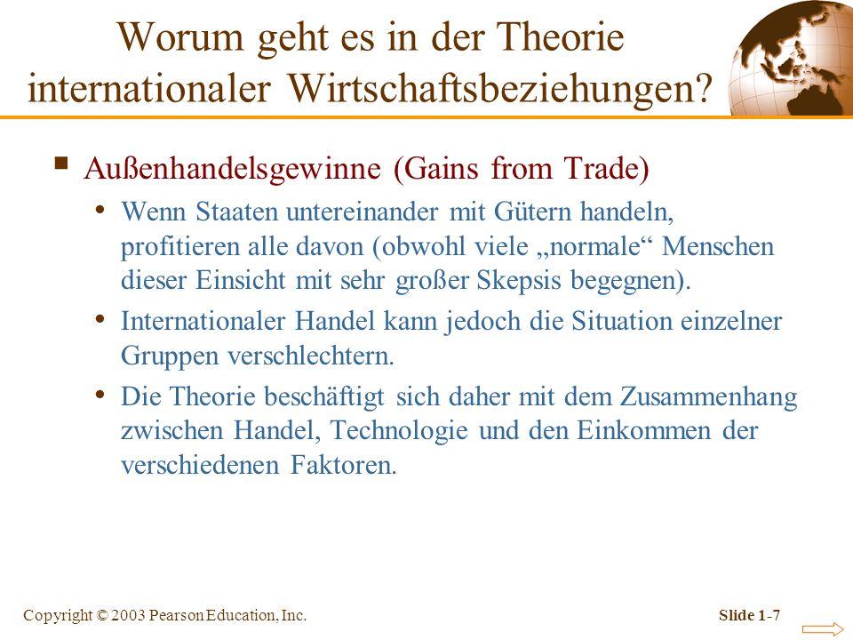 Worum geht es in der Theorie internationaler Wirtschaftsbeziehungen