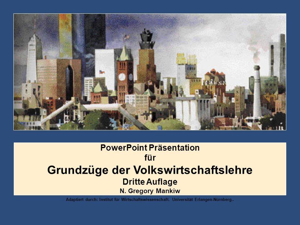 PowerPoint Präsentation Grundzüge der Volkswirtschaftslehre