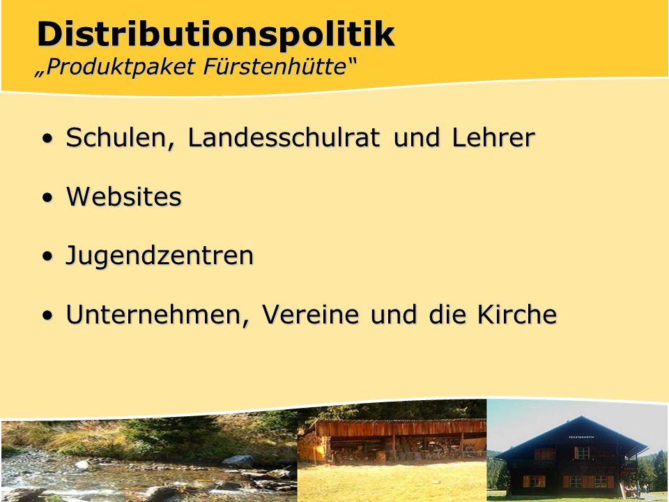 "Distributionspolitik ""Produktpaket Fürstenhütte"