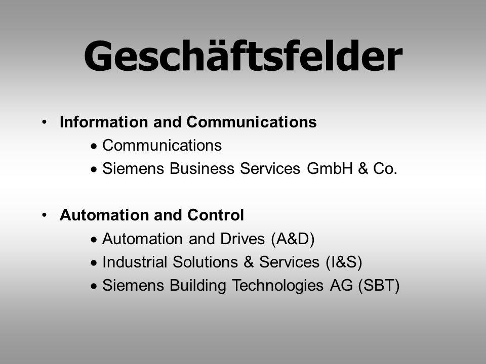 Geschäftsfelder Information and Communications Communications