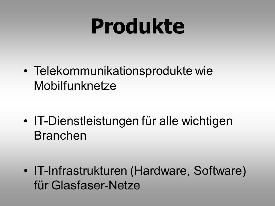 Produkte Telekommunikationsprodukte wie Mobilfunknetze