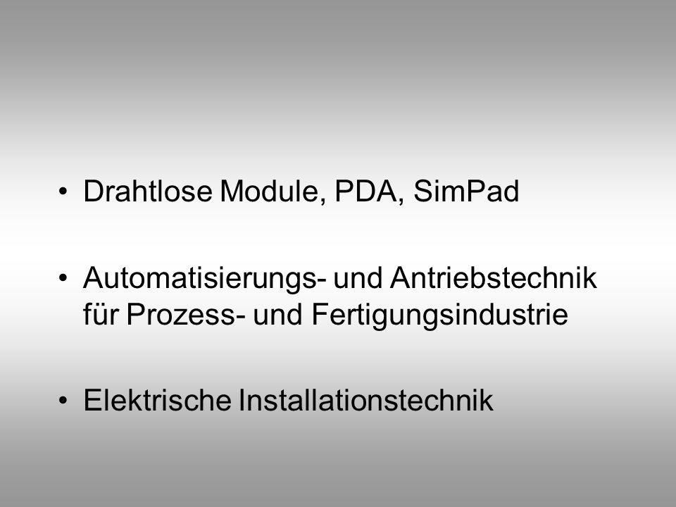 Drahtlose Module, PDA, SimPad
