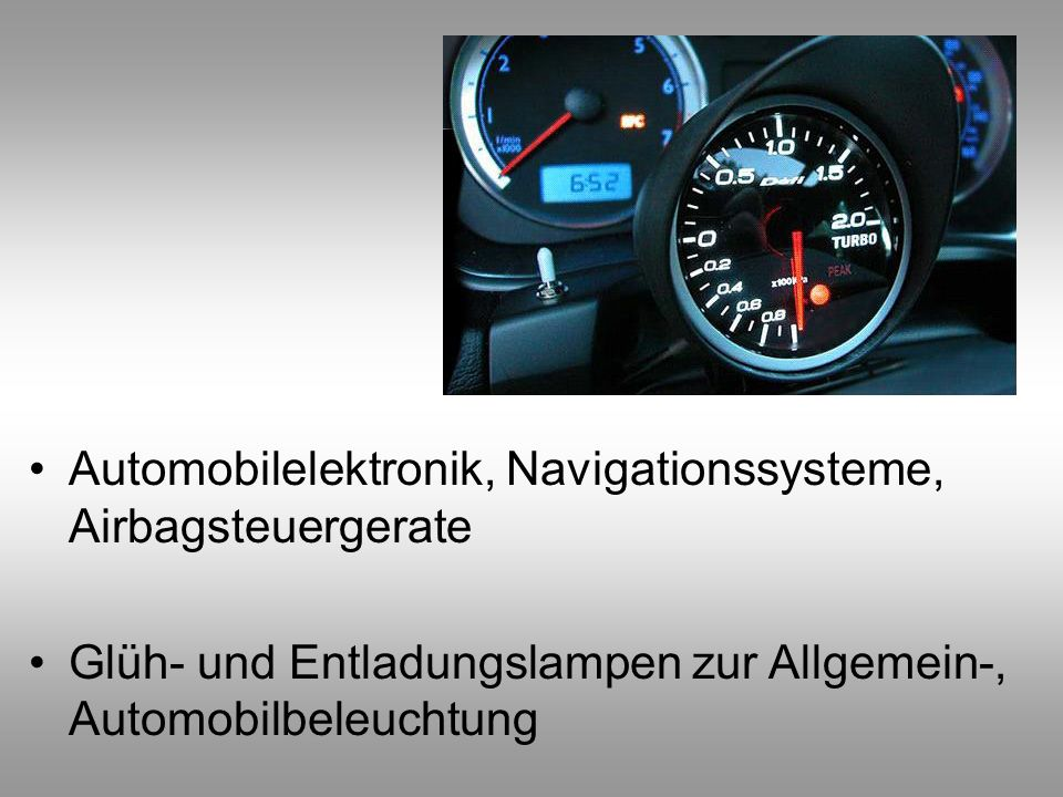 Automobilelektronik, Navigationssysteme, Airbagsteuergerate