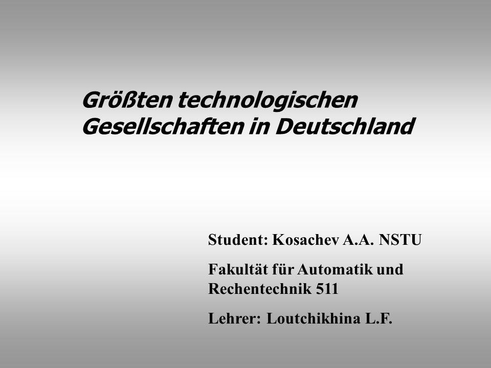 Größten technologischen Gesellschaften in Deutschland