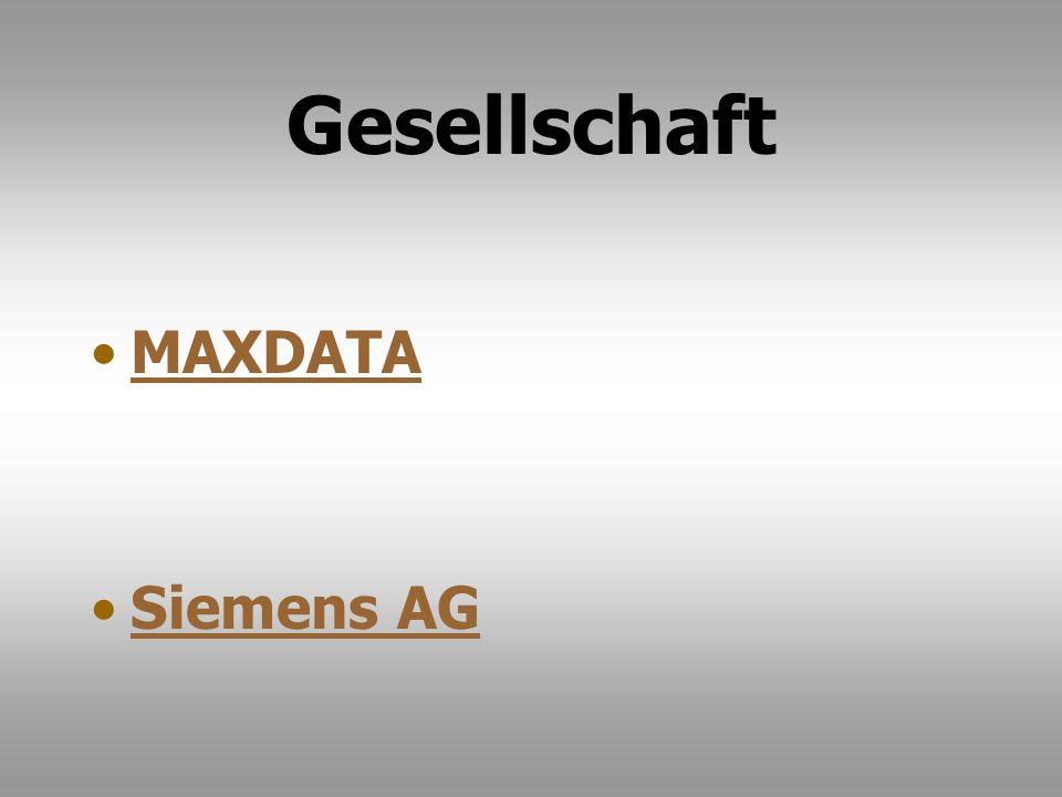 Gesellschaft MAXDATA Siemens AG