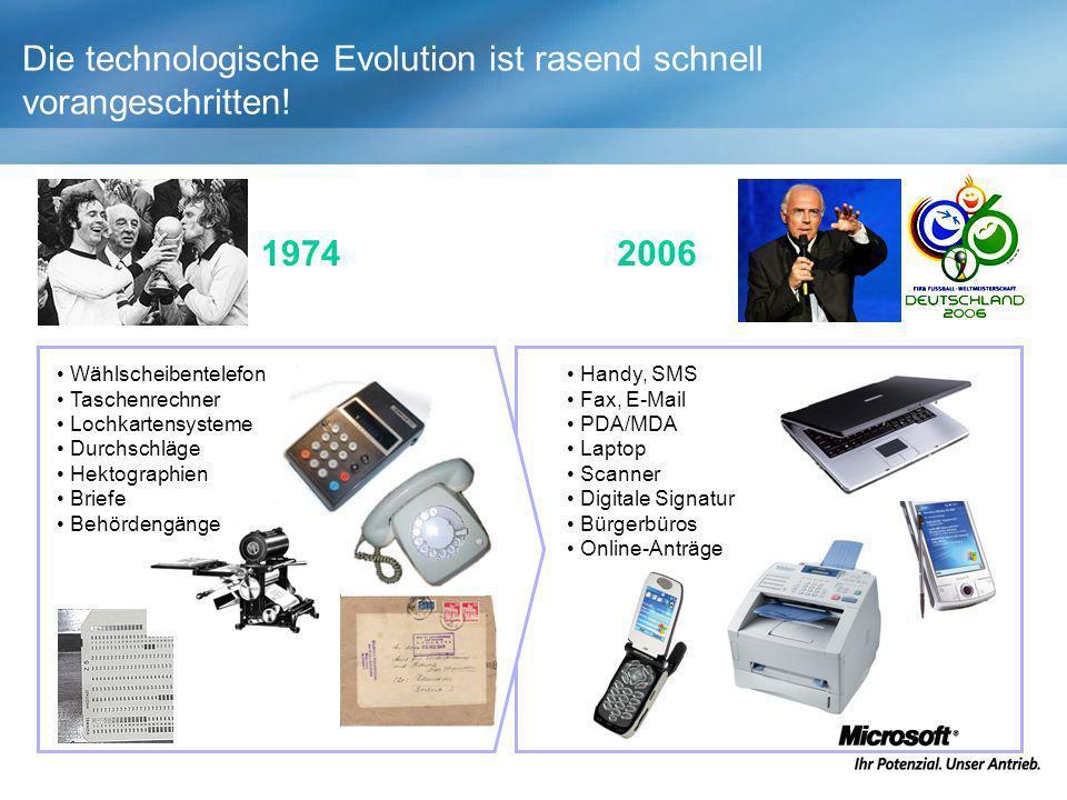 Die technologische Evolution ist rasend schnell vorangeschritten!