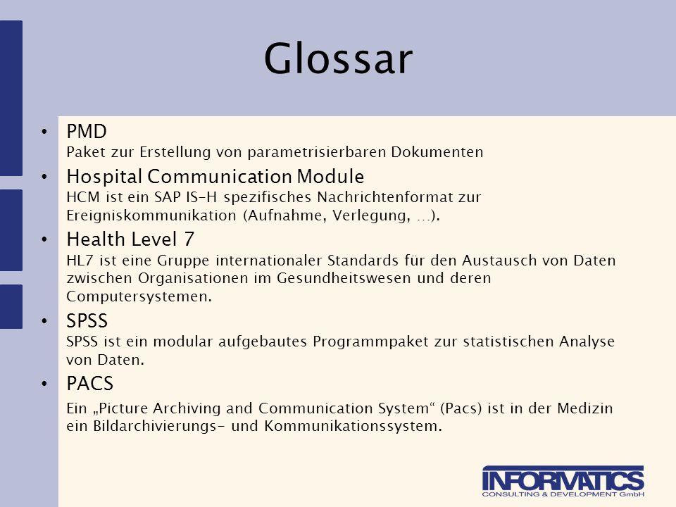 Glossar PMD Paket zur Erstellung von parametrisierbaren Dokumenten