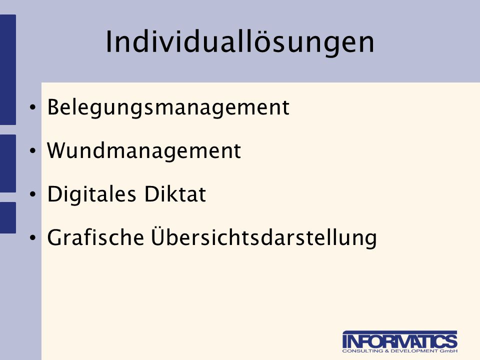 Individuallösungen Belegungsmanagement Wundmanagement Digitales Diktat