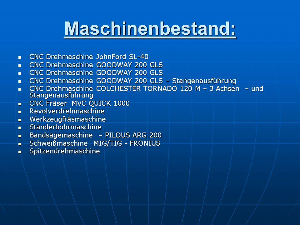 Maschinenbestand: CNC Drehmaschine JohnFord SL-40