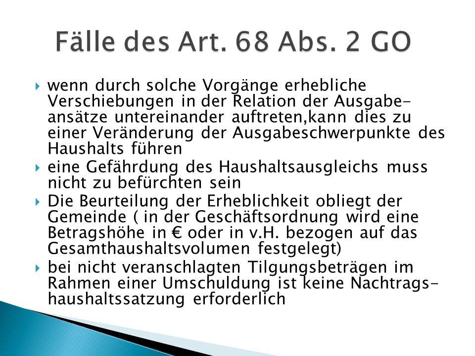 Fälle des Art. 68 Abs. 2 GO