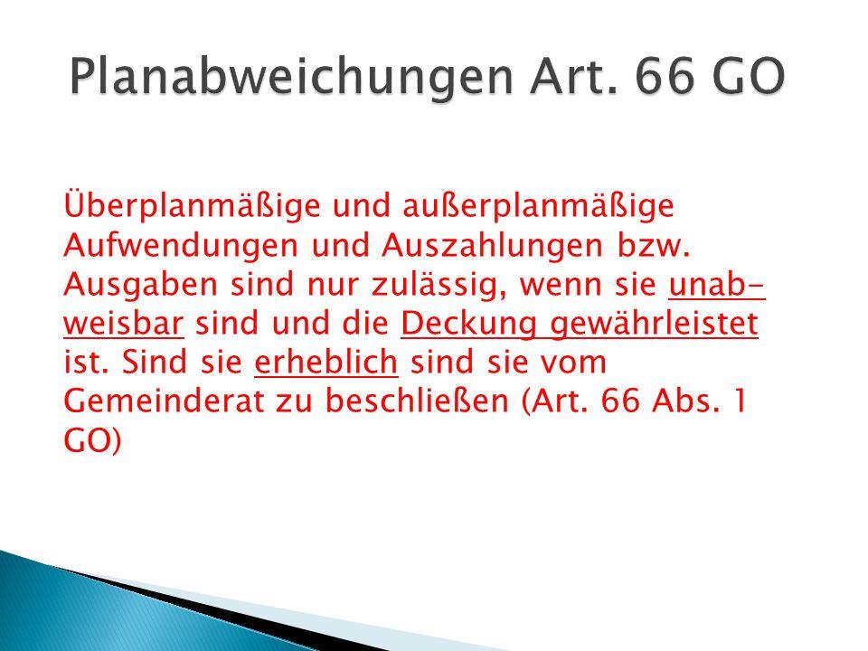 Planabweichungen Art. 66 GO