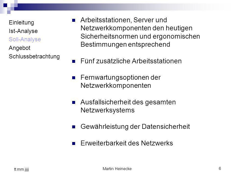 Arbeitsstationen, Server und Netzwerkkomponenten den heutigen