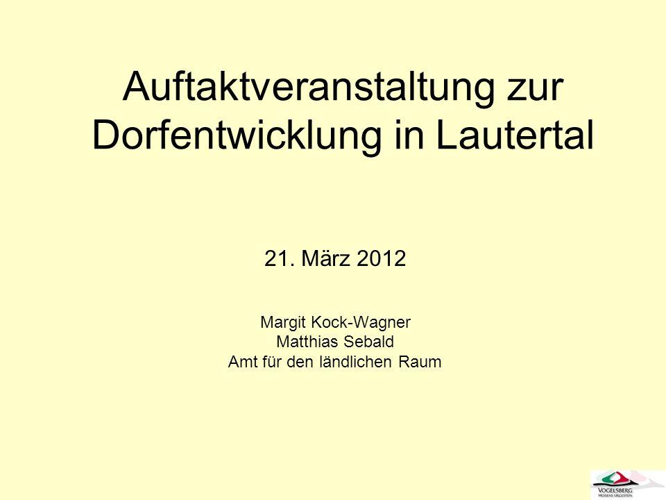 Auftaktveranstaltung zur Dorfentwicklung in Lautertal
