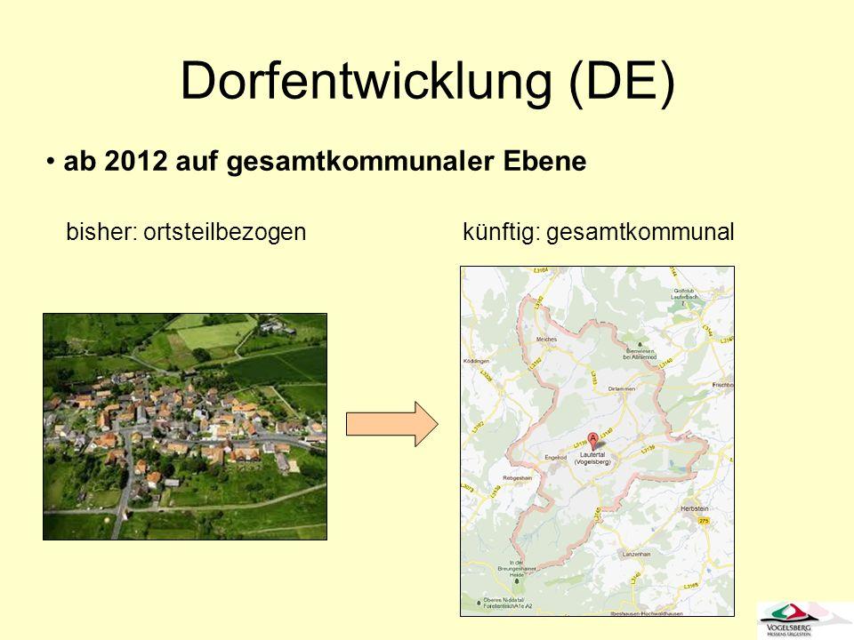 Dorfentwicklung (DE) ab 2012 auf gesamtkommunaler Ebene