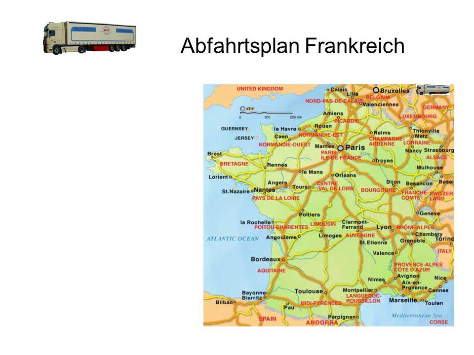 Abfahrtsplan Frankreich