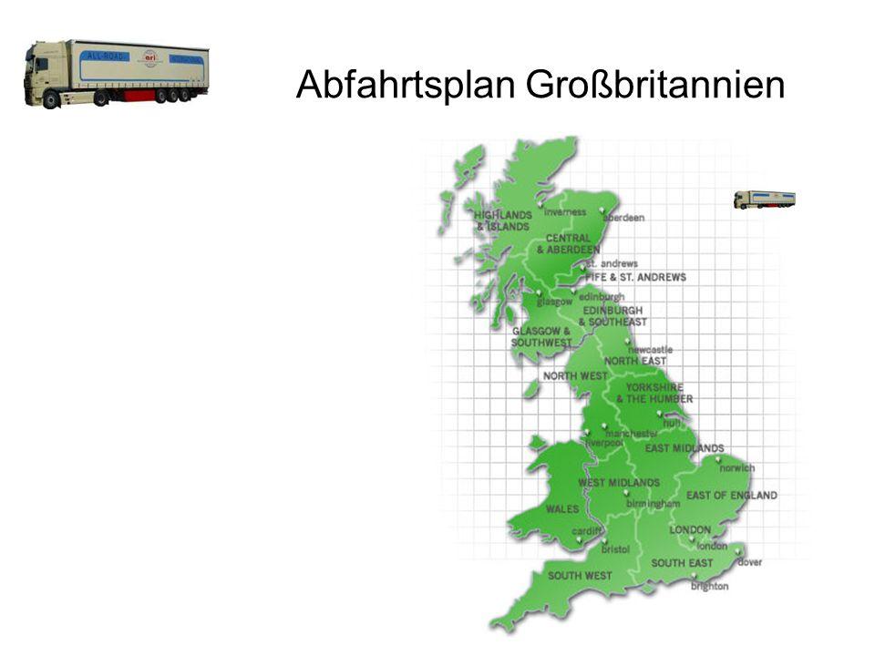 Abfahrtsplan Großbritannien