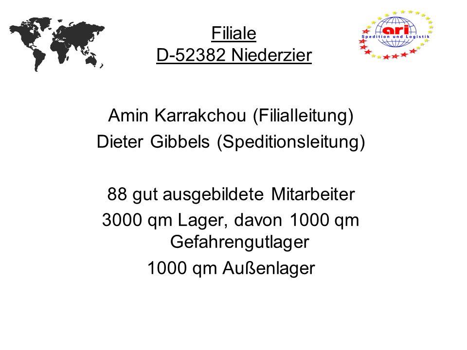 Amin Karrakchou (Filialleitung) Dieter Gibbels (Speditionsleitung)