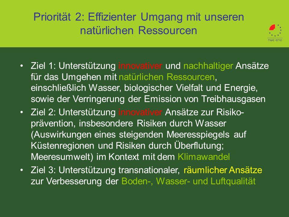Priorität 2: Effizienter Umgang mit unseren natürlichen Ressourcen