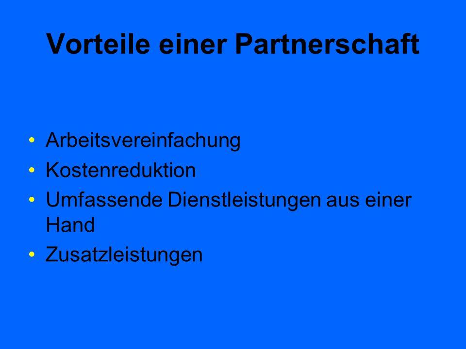 Vorteile einer Partnerschaft