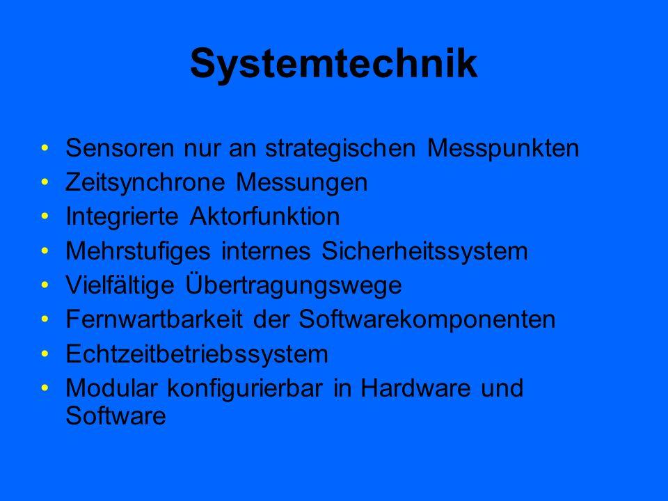Systemtechnik Sensoren nur an strategischen Messpunkten