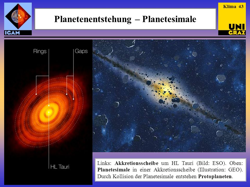 Planetenentstehung – Planetesimale