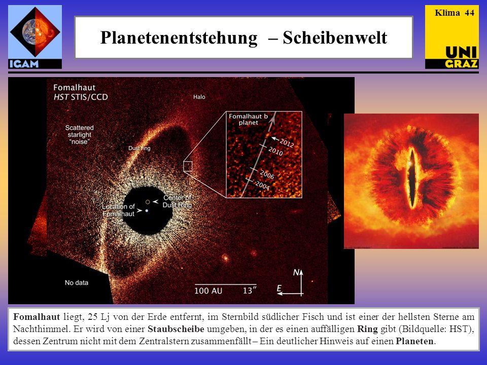 Planetenentstehung – Scheibenwelt