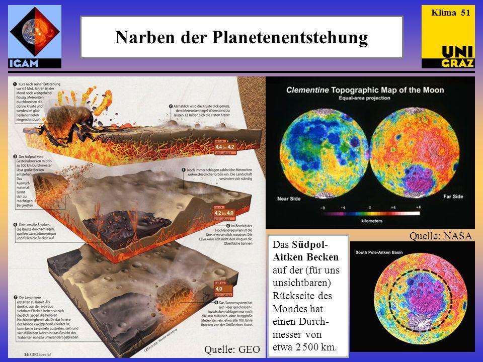 Narben der Planetenentstehung