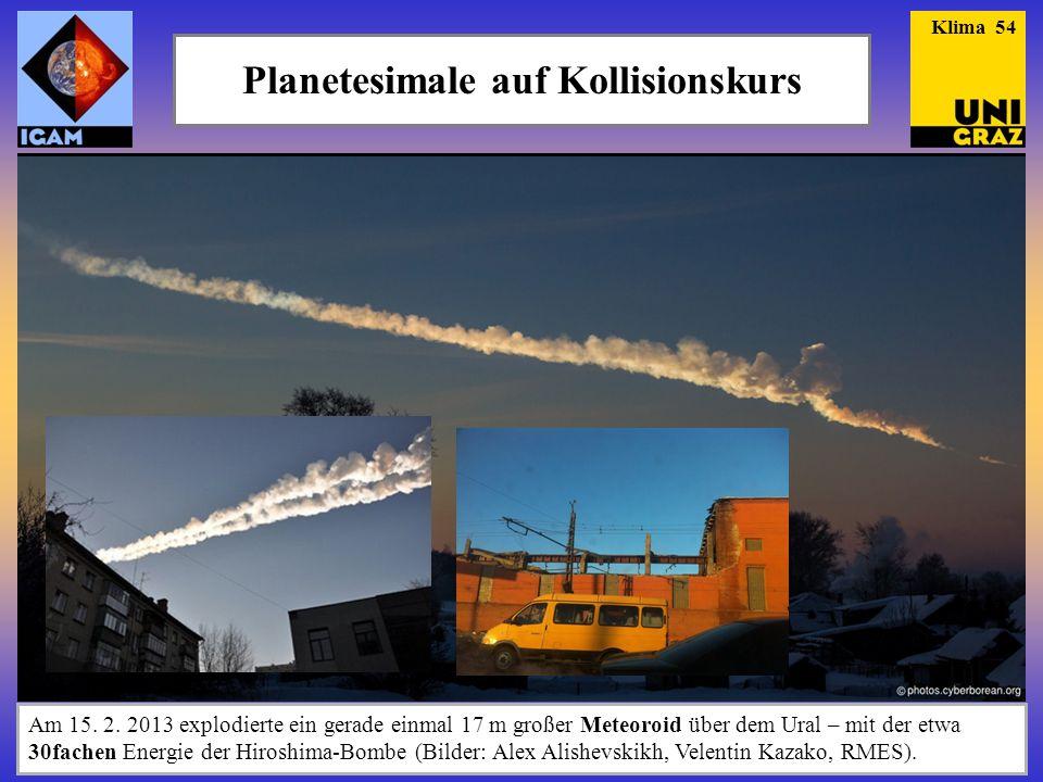 Planetesimale auf Kollisionskurs