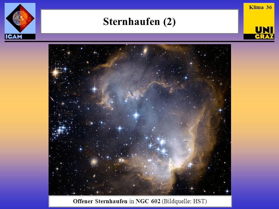 Offener Sternhaufen in NGC 602 (Bildquelle: HST)