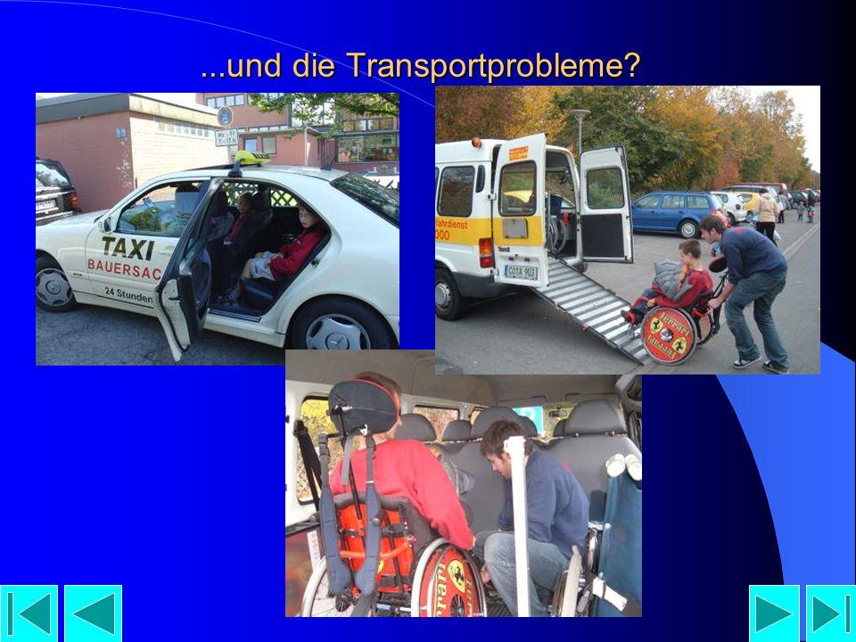 ...und die Transportprobleme