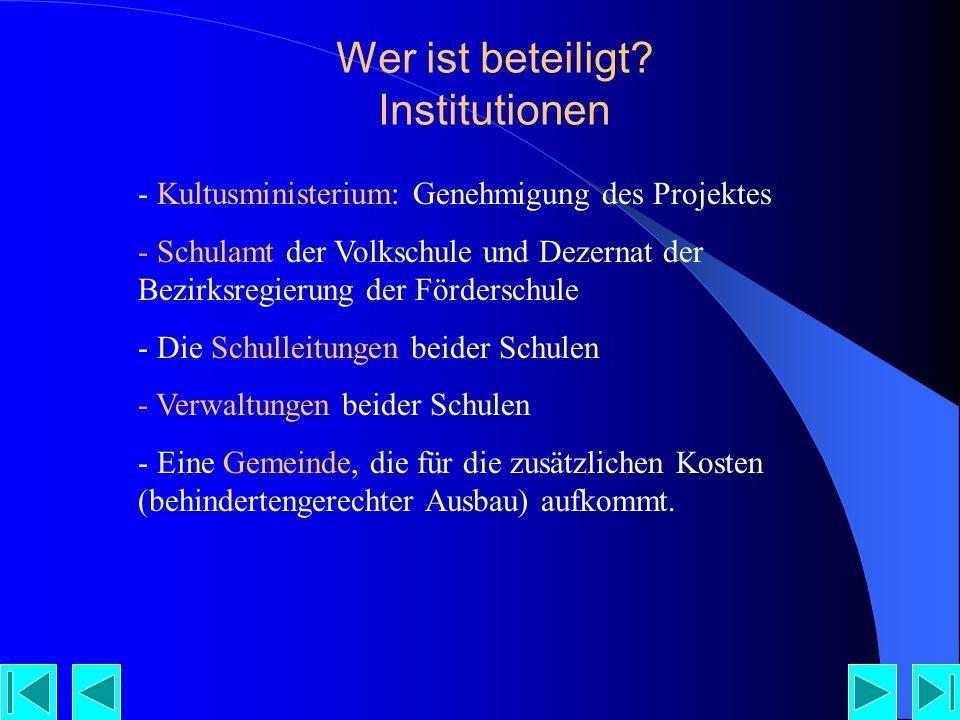 Wer ist beteiligt Institutionen