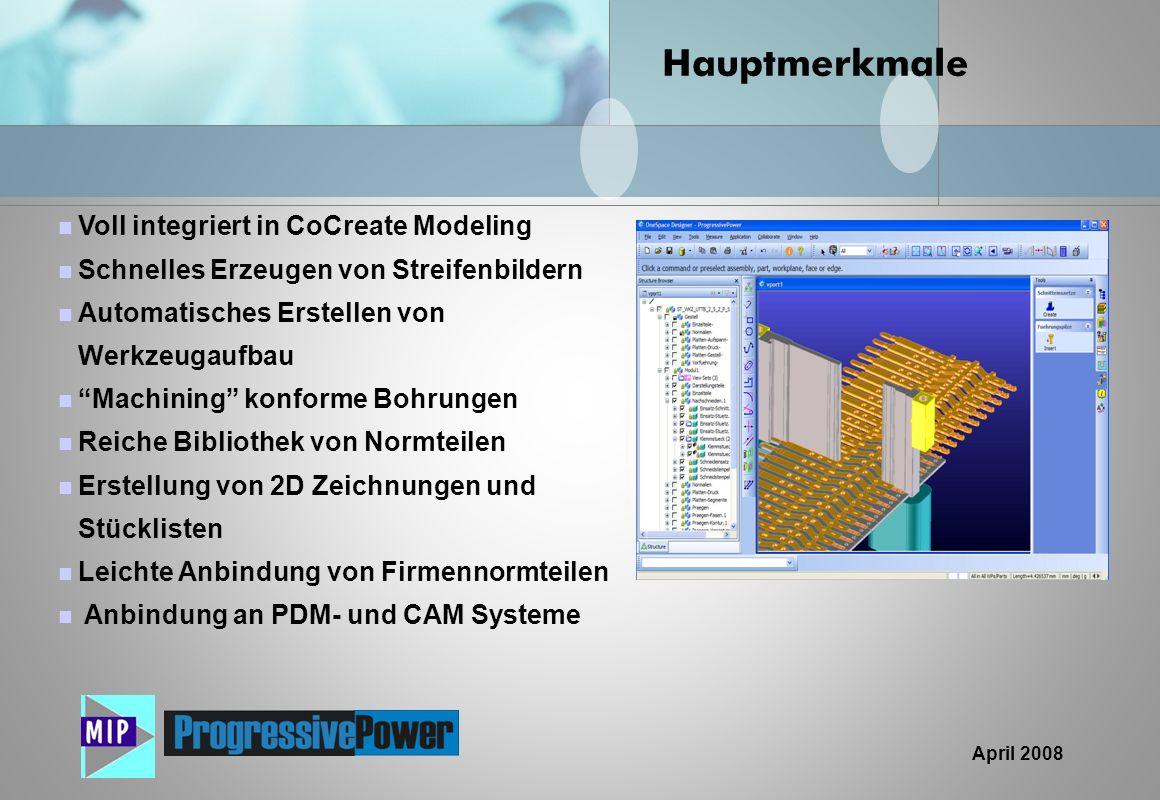 Hauptmerkmale Voll integriert in CoCreate Modeling