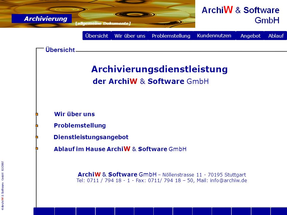 Archivierungsdienstleistung