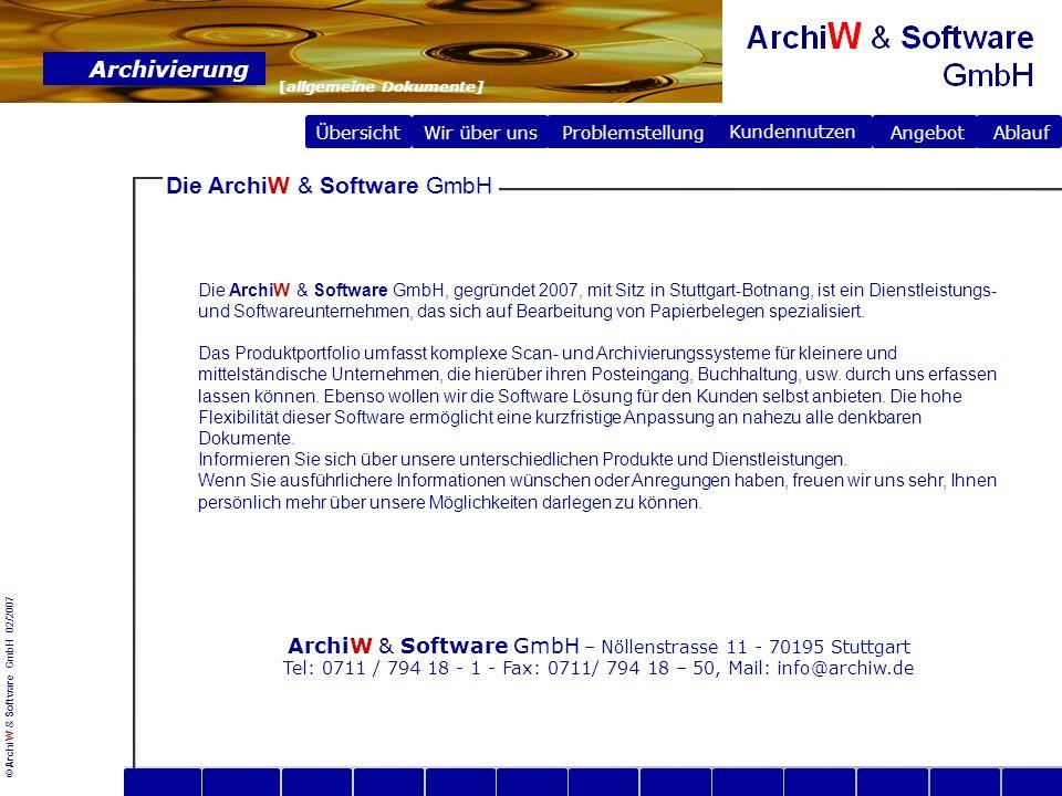 Die ArchiW & Software GmbH