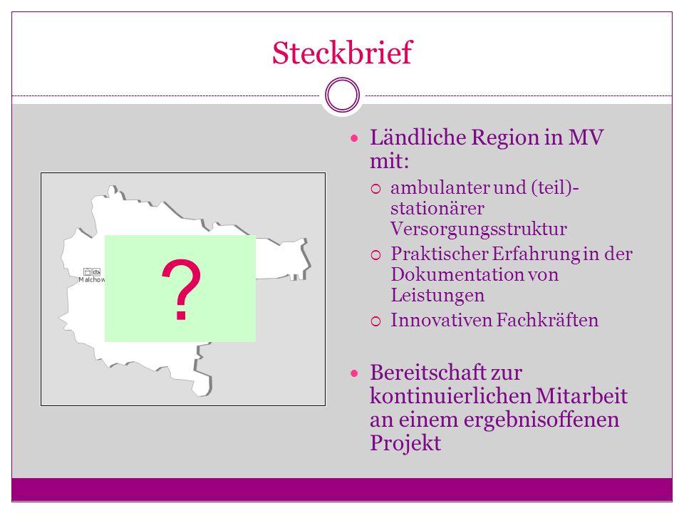 Steckbrief Ländliche Region in MV mit: