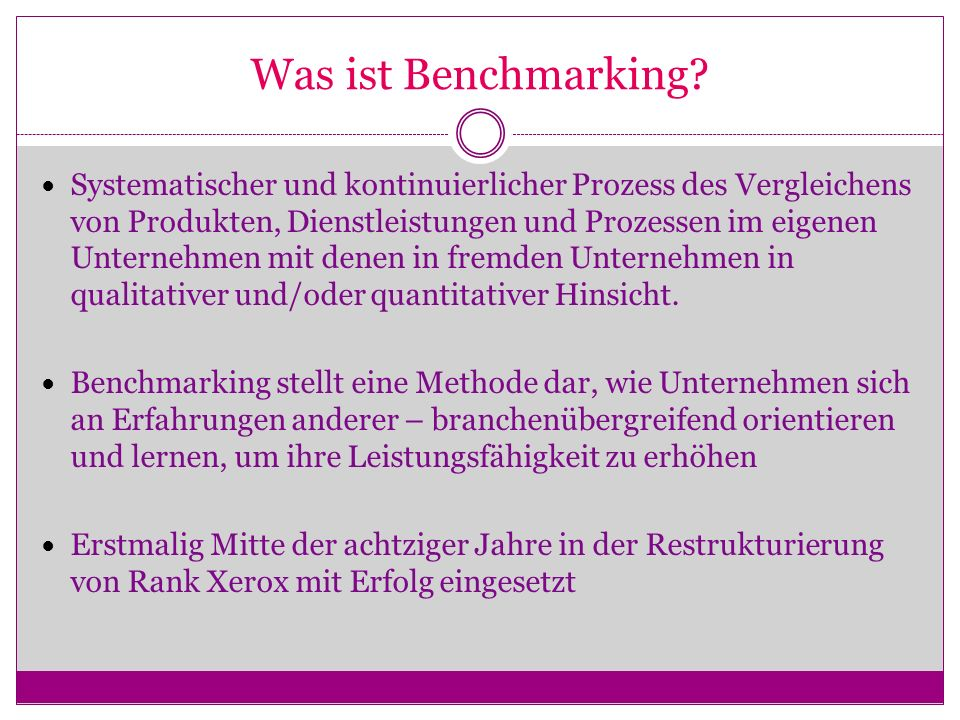 Was ist Benchmarking