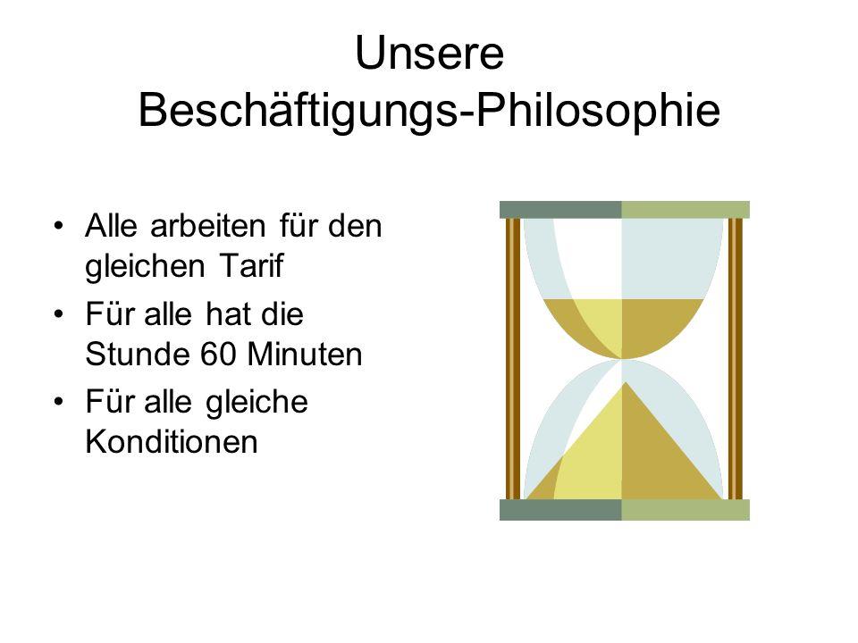Unsere Beschäftigungs-Philosophie