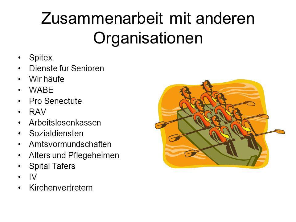 Zusammenarbeit mit anderen Organisationen