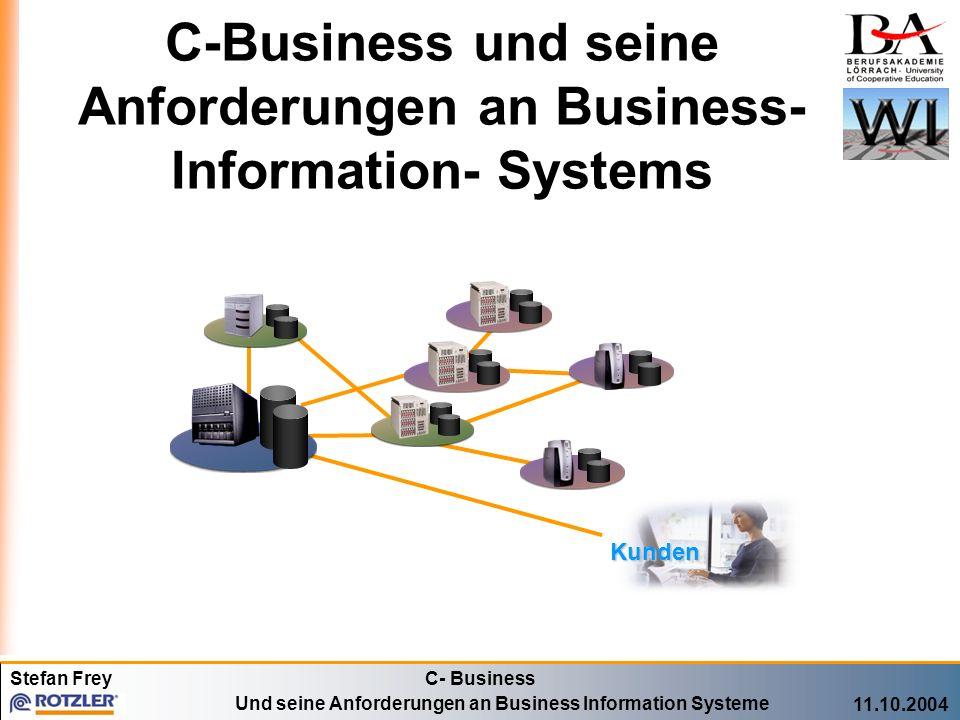 C-Business und seine Anforderungen an Business-Information- Systems