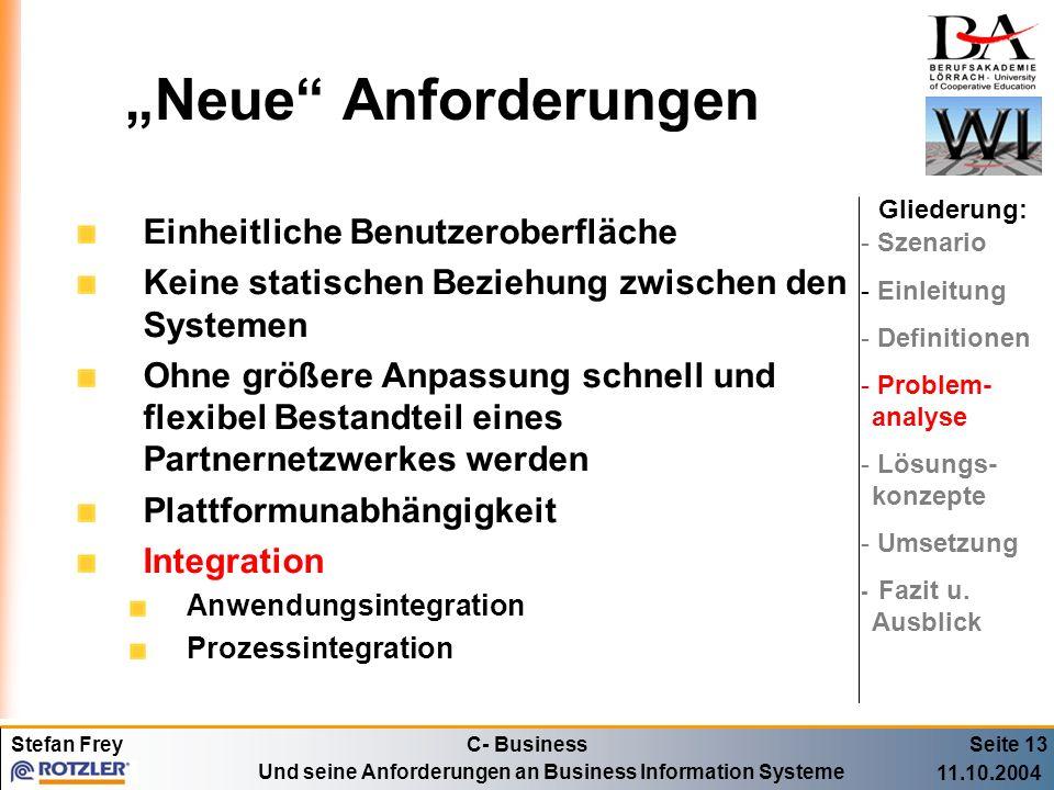 """""""Neue Anforderungen Einheitliche Benutzeroberfläche"""