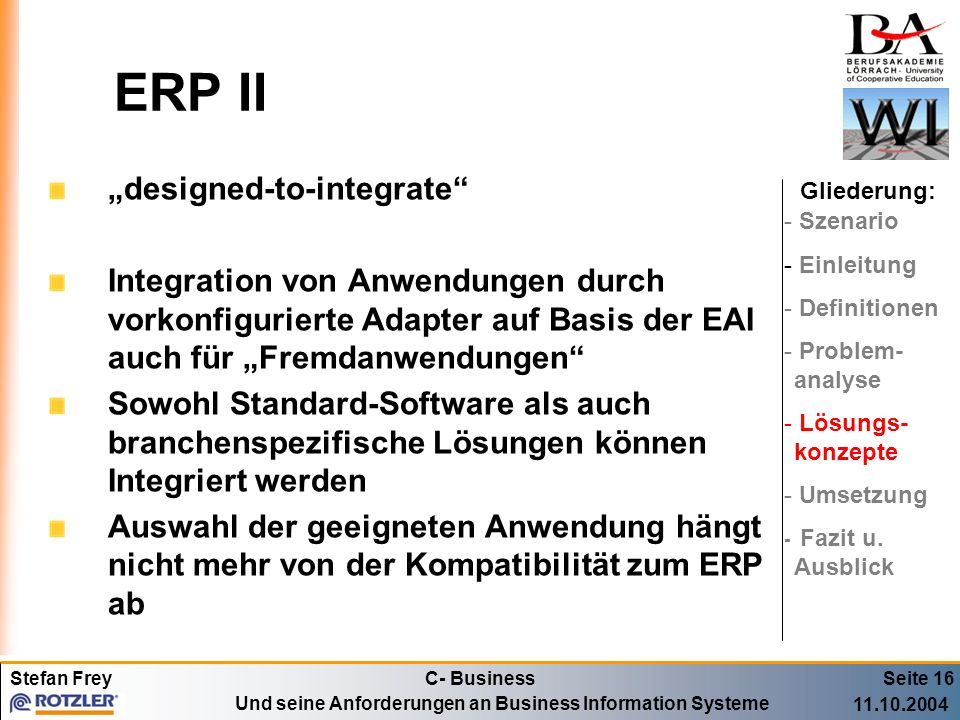 "ERP II ""designed-to-integrate"